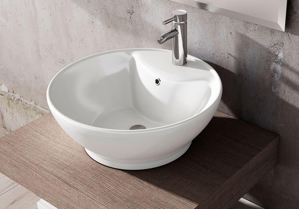 lavabo redondo cerámica